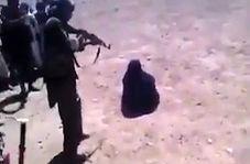 اعدام یک زن توسط طالبان با کلاشینکف