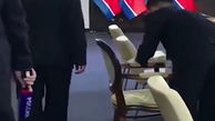 تمیز کردن صندلی رهبر کره شمالی پیش از دیدار با پوتین