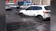 شکسته شدن یک سد در چین، شهری را به هم ریخت + فیلم