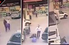 مجازات آنی سارق حین فرار در خیابان!
