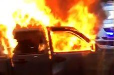 حمله مرد ملبورنی به پلیس پس از آتشزدن ماشین خود