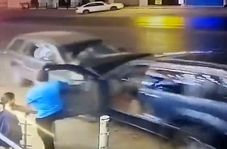 تصادف وحشتناک چند ثانیه بعد از خروج کودک از خودرو