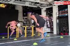 تمرین اختصاصی و آمادگی جسمانی علی کریمی