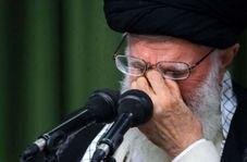 روضه رهبر انقلاب از پیکر سردار سلیمانی