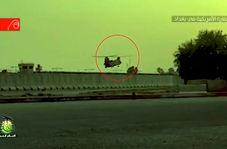 فیلم/ بالگرد آمریکایی در تیررس مقاومت عراق