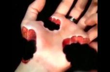هنرنمایی بانوی نقاش در خلق جذابترین طراحیهای سه بعدی روی دست