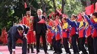 اقدام جالب مادورو در مراسم استقبال از اردوغان