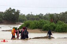 بارش باران در شهر سیلزده بنت در سیستان و بلوچستان