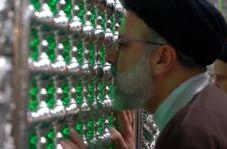 لحظاتی از وداع حجتالاسلام رئیسی با مضجع نورانی امام رضا(ع)