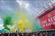 تظاهرات اعتراض آمیز هواداران منچستریونایتد علیه مالکان باشگاه