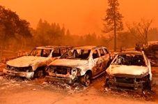 تصاویر آخرالزمانی از کالیفرنیا پس از آتش سوزی