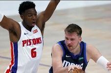 خلاصه بسکتبال دالاس ماوریکس - دیترویت پیستونز
