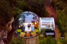 ساخت هتل حبابی، ایده خلاقانهای که باعث صرفه جویی در هزینه و فضا شده است