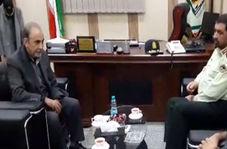 حضور محمد علی نجفی در پلیس آگاهی تهران بزرگ