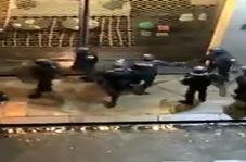 کتک زدن وحشیانه یک معترض توسط پلیس فرانسه