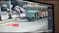 لحظات دردناک مرگ زن و شوهر در زیر چرخهای اتوبوس+فیلم