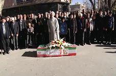 تشییع پیکر اولین جانباز انقلاب اسلامی در اصفهان