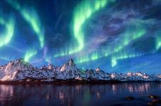 قابی بینظیر از شفق قطبی در آسمان