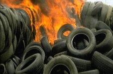آتش گرفتن 200 تن تایر در کارخانه!