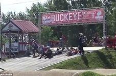 حادثه خندهدار در خط آغاز مسابقه!
