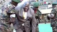 لحظه زمین خوردن وزیر ورزش اوگاندا