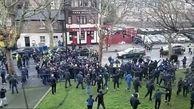 درگیری خونین هواداران دو تیم فوتبال انگلیسی