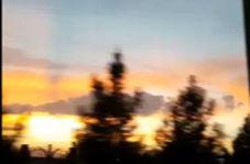 لحظات دلانگیز غروب خورشید در قم