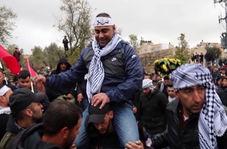 استقبال گسترده مردم فلسطین از یک آزاده پس از ۱۸ سال اسارت + فیلم