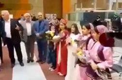 استقبال جالب از تیم ملی والیبال ایران در ارومیه