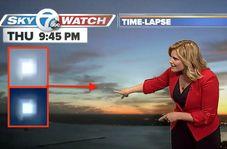 تعجب کارشناس هواشناسی از رویت یک یوفو حین پخش زنده!