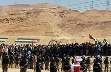 حرکت جوانان اردنی به سمت مرز فلسطین