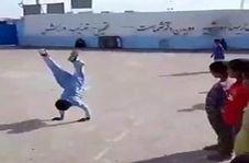 نمایش استعدادهای دانش آموزان چابهاری در ورزش ژیمناستیک