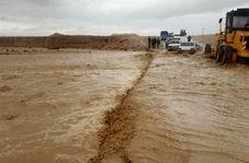 مسدود شدن جاده نیمروز هیرمند بر اثر سیلاب