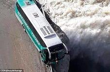 خطری که از بیخ گوش راننده اتوبوس گذشت!