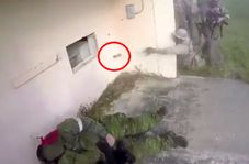 سوتی سرباز آمریکایی در مانور نظامی همرزمش را تا یک قدمی مرگ برد