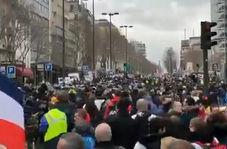 فیلم/ برخورد خشن پلیس، شیوع کرونا مانع ازهفتادمین شنبه اعتراض در فرانسه نشد