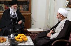 حضور رهبر معظم انقلاب در منزل حضرت آیتالله مجتبی تهرانی