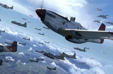 نبرد هوایی تمام عیار میان چندین جنگنده در جنگ جهانی دوم