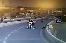 تصادف مرگبار موتورسواران در بزرگراه
