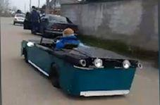 ساخت خودروی جالب و دستساز توسط جوان گیلانی