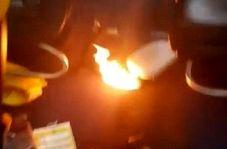 تخلیه اضطراری مسافران هواپیما به خاطر انفجار پاوربانک+فیلم