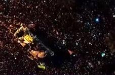 تصاویر هوایی تشییع باشکوه پیکر شهید سلیمانی در قم