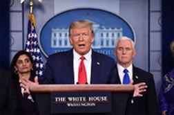 خشم ترامپ از سوال یک خبرنگار درباره شیوع کرونا در آمریکا