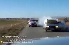 لحظه انفجار اسلحه همراهان عروس و داماد در یک عروسی ایرانی!