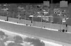 فرار پناهجویان غیرقانونی از اردوگاه در مرز آمریکا با مکزیک + فیلم