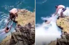 نجات بیفایده جوان چینی از غرق شدن که قربانی سلفی شد