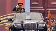 نمایش قدرت ارتش روسیه با رژه نیروهای مسلح در حضور پوتین