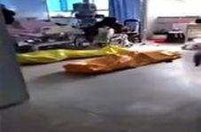 اجساد بیماران مبتلا به کرونا در بیمارستانی در چین