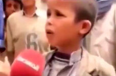 صحبتهای قابل تأمل کودک یمنی خطاب به دشمنان