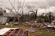 طوفان خانههای آمریکاییها در ایالت آلاباما را تخریب کرد